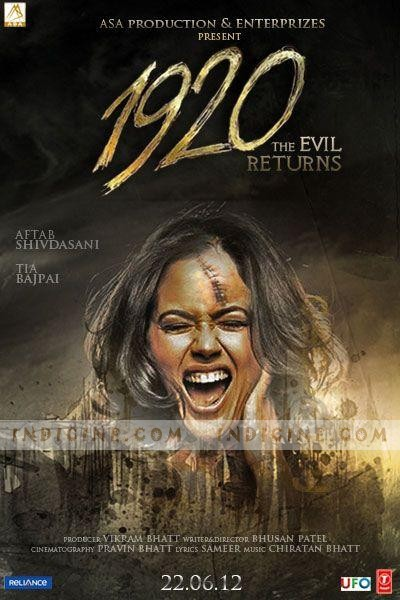 1920 Evil Returns 2012 Hindi 720p BRRip 900mb