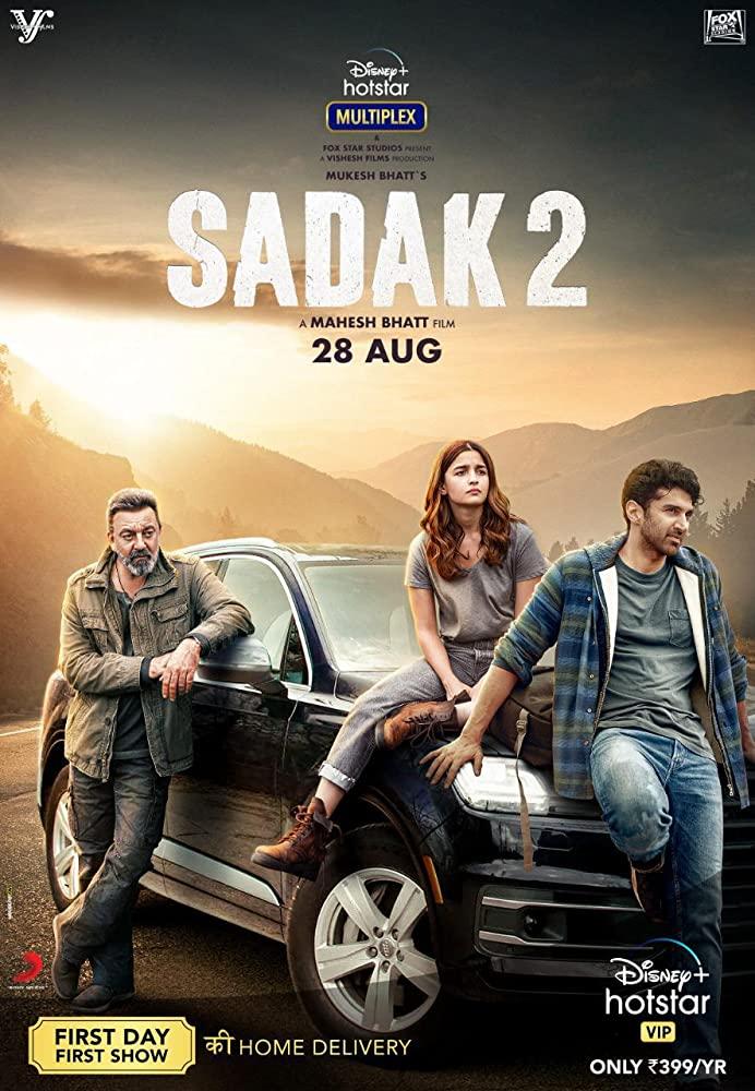 Sadak 2 (2020) 480p Hindi 300mb